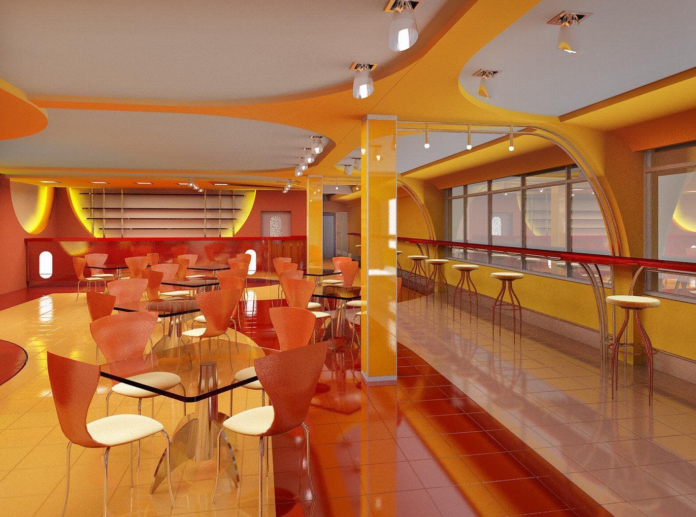 Проект интерьера бара 1 этажа