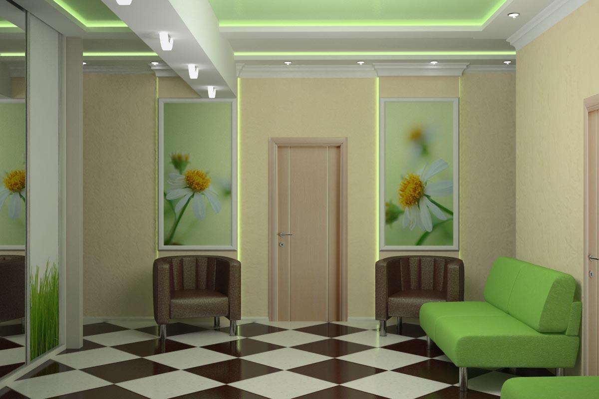 Дизайн интерьера холла в медицинском центре