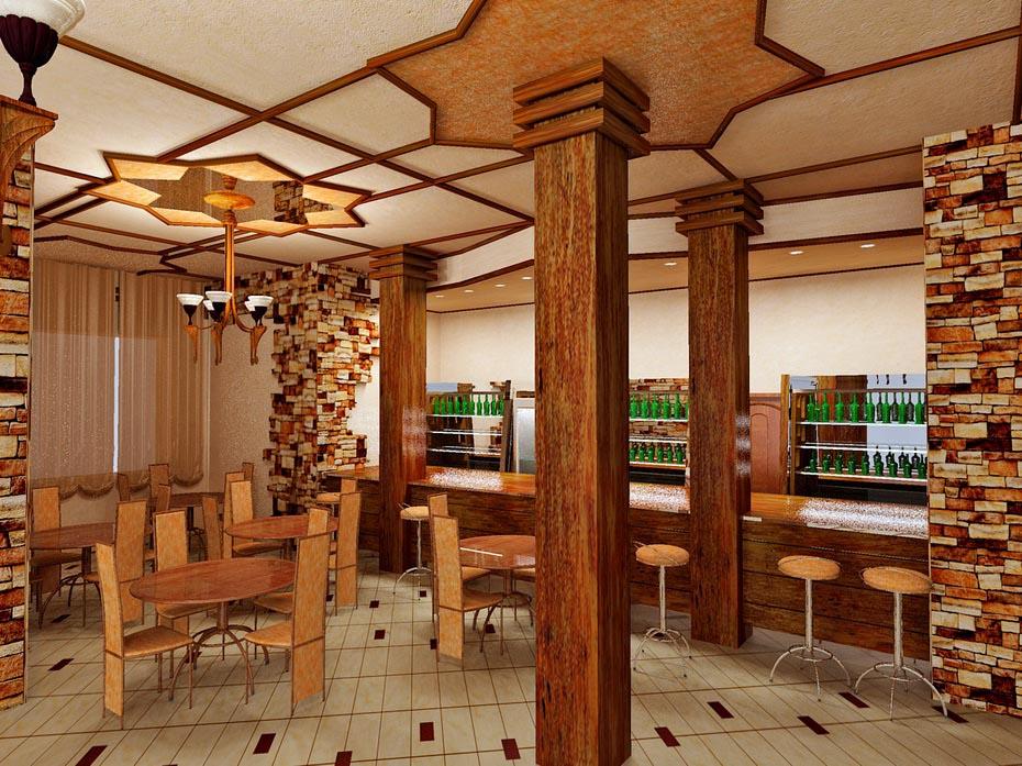 Дизайн интерьера лаунж-бара в гостинице