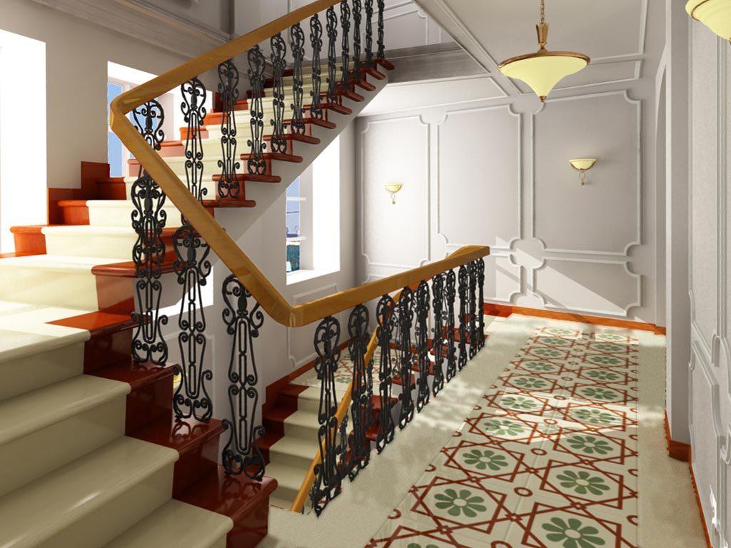 Дизайн интерьера лестницы в офисном здании
