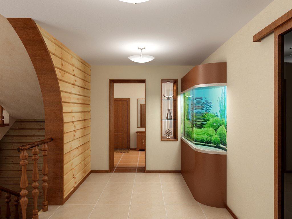 Дизайн интерьера лестничного холла 2 этажа