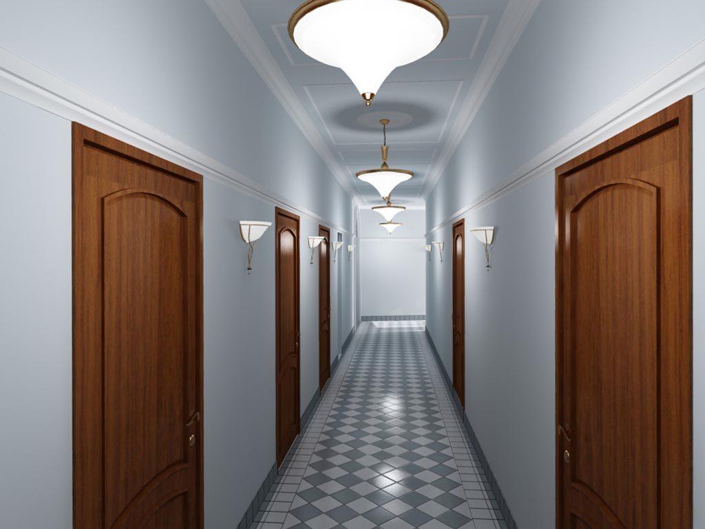Дизайн интерьера коридора в офисном здании