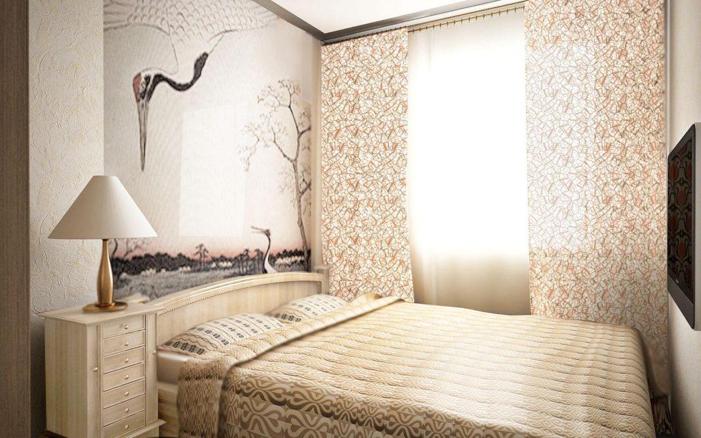 Дизайн интерьера спальни в кремовых тонах