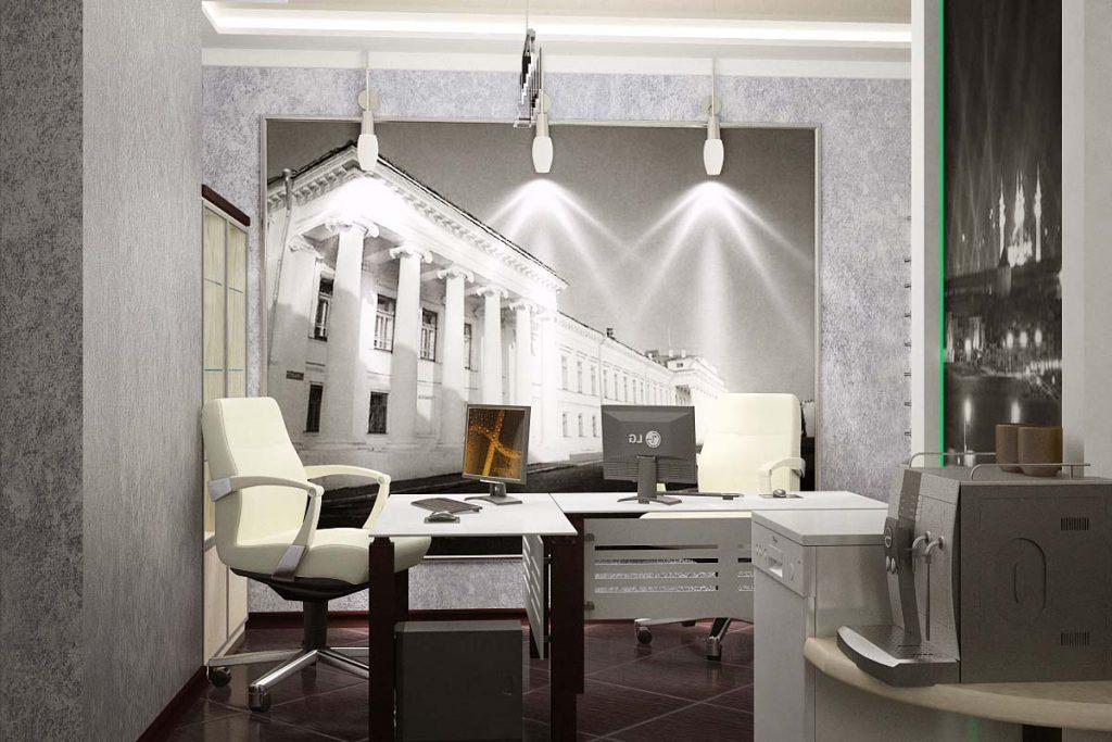 Дизайн интерьера рабочей зоны