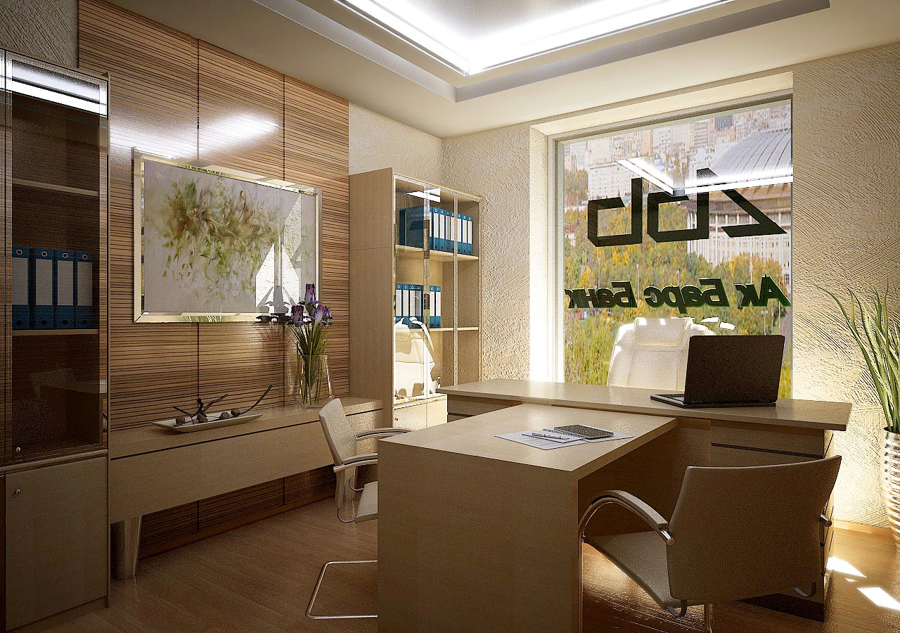 Дизайн интерьера кабинета управляющего