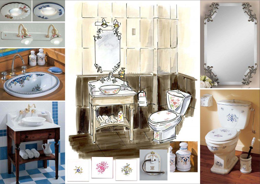 Интерьер гостевой ванной комнаты в стиле Прованс