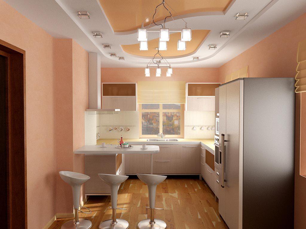 Дизайн интерьера современной кухни в частном доме