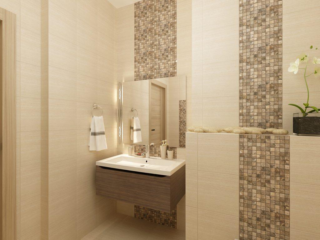Дизайн интерьера гостевого санузла со встроенной системой хранения