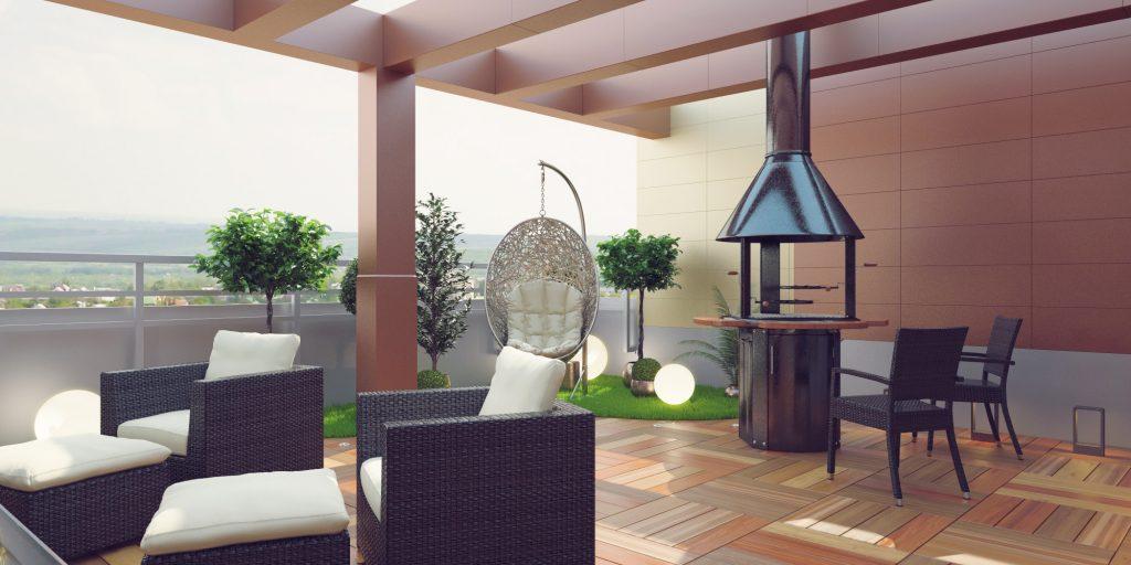 Дизайн открытой террасы