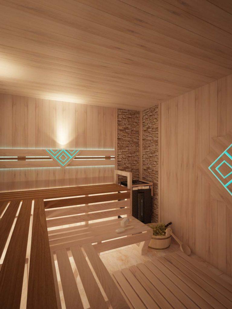 Дизайн интерьера финской сауны