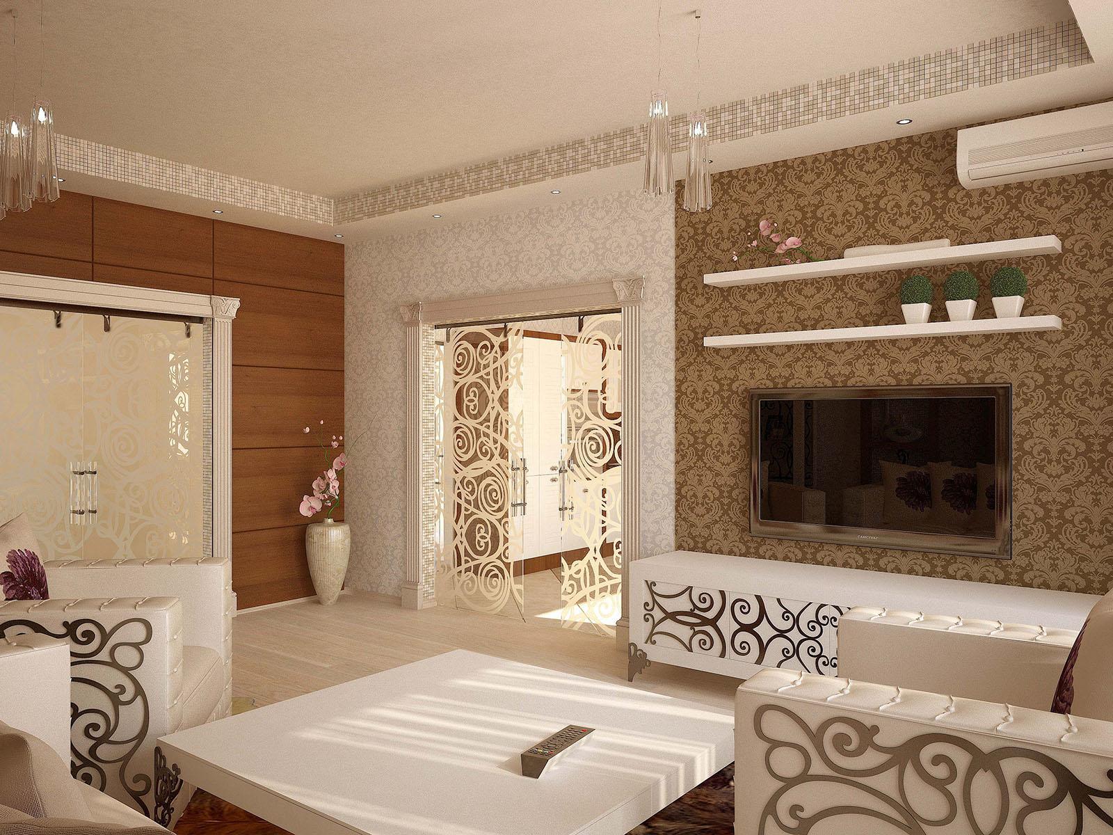 Стеклянные раздвижные двери также визуально расширяют пространство кухни и гостиной.