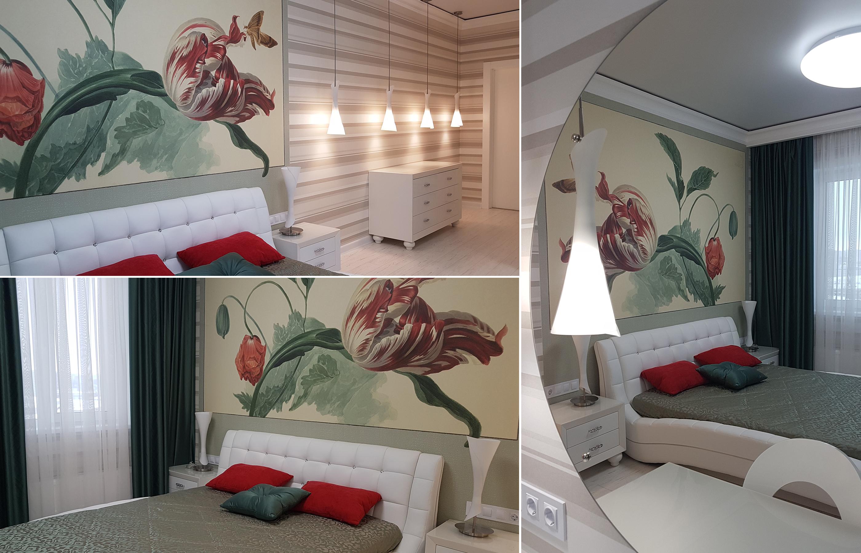 Фото интерьера спальни в ЖК