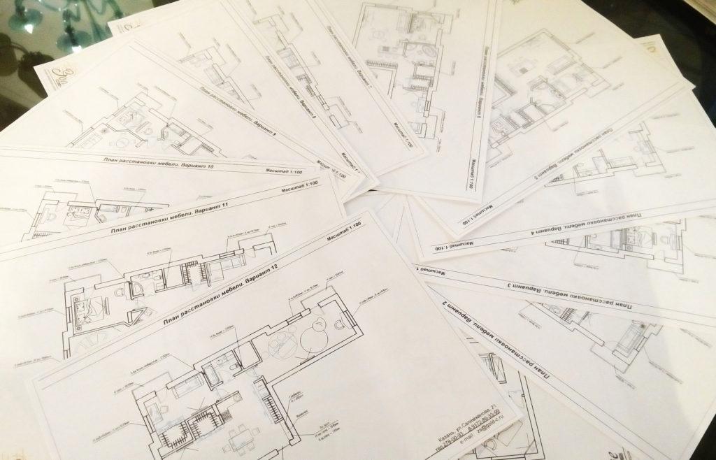 Варианты планов расстановки мебели