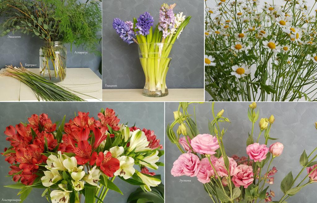 оформление интерьера живыми цветами