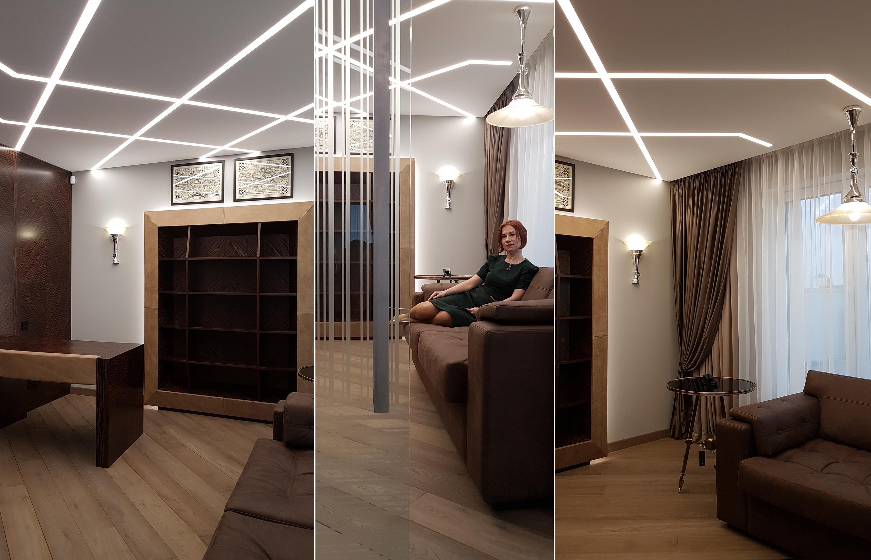 Дизайн интерьера мужского рабочего кабинета