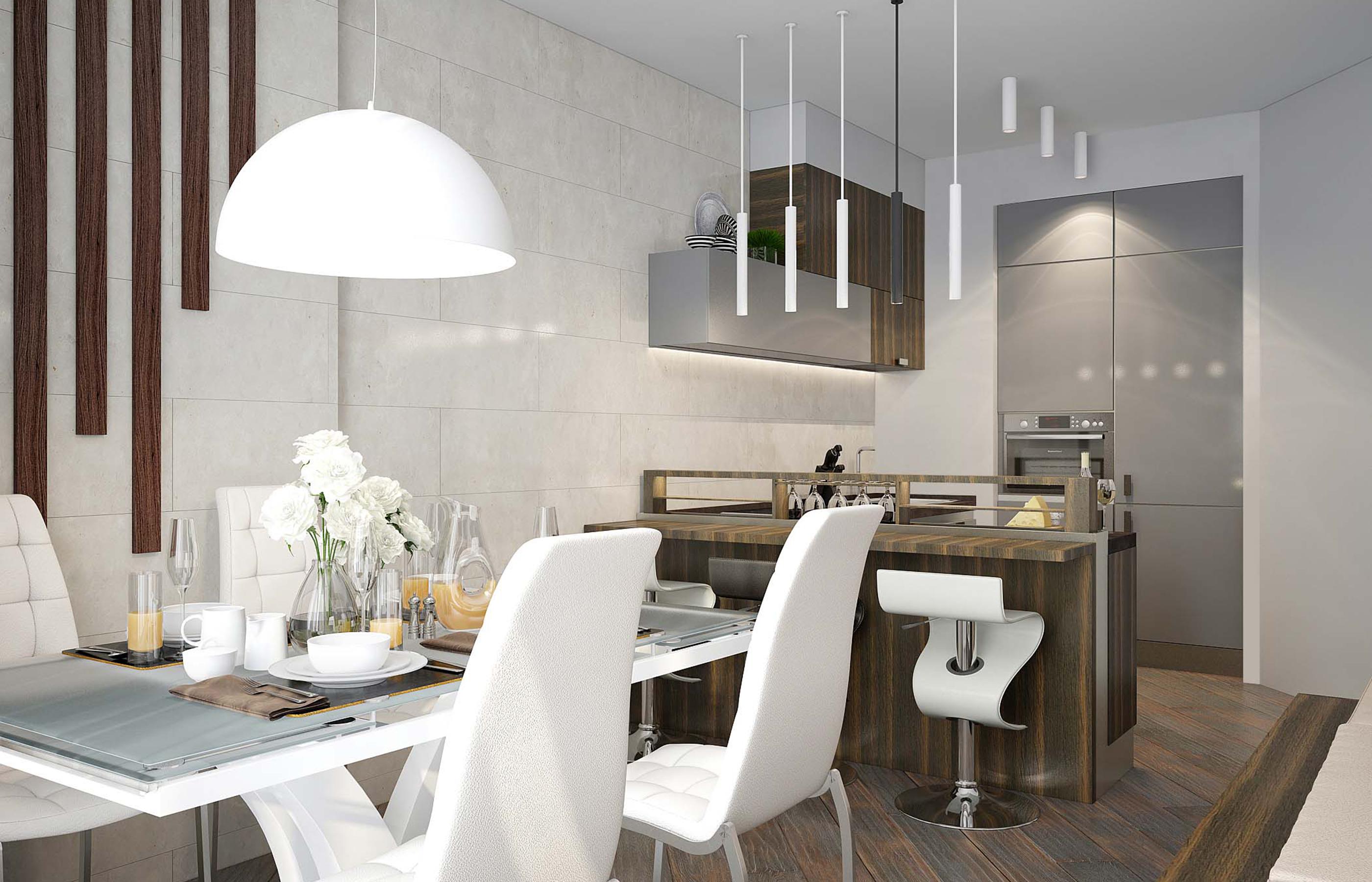 Кухня с выдвигающейся барной стойкой от фабрики Giulia Novars