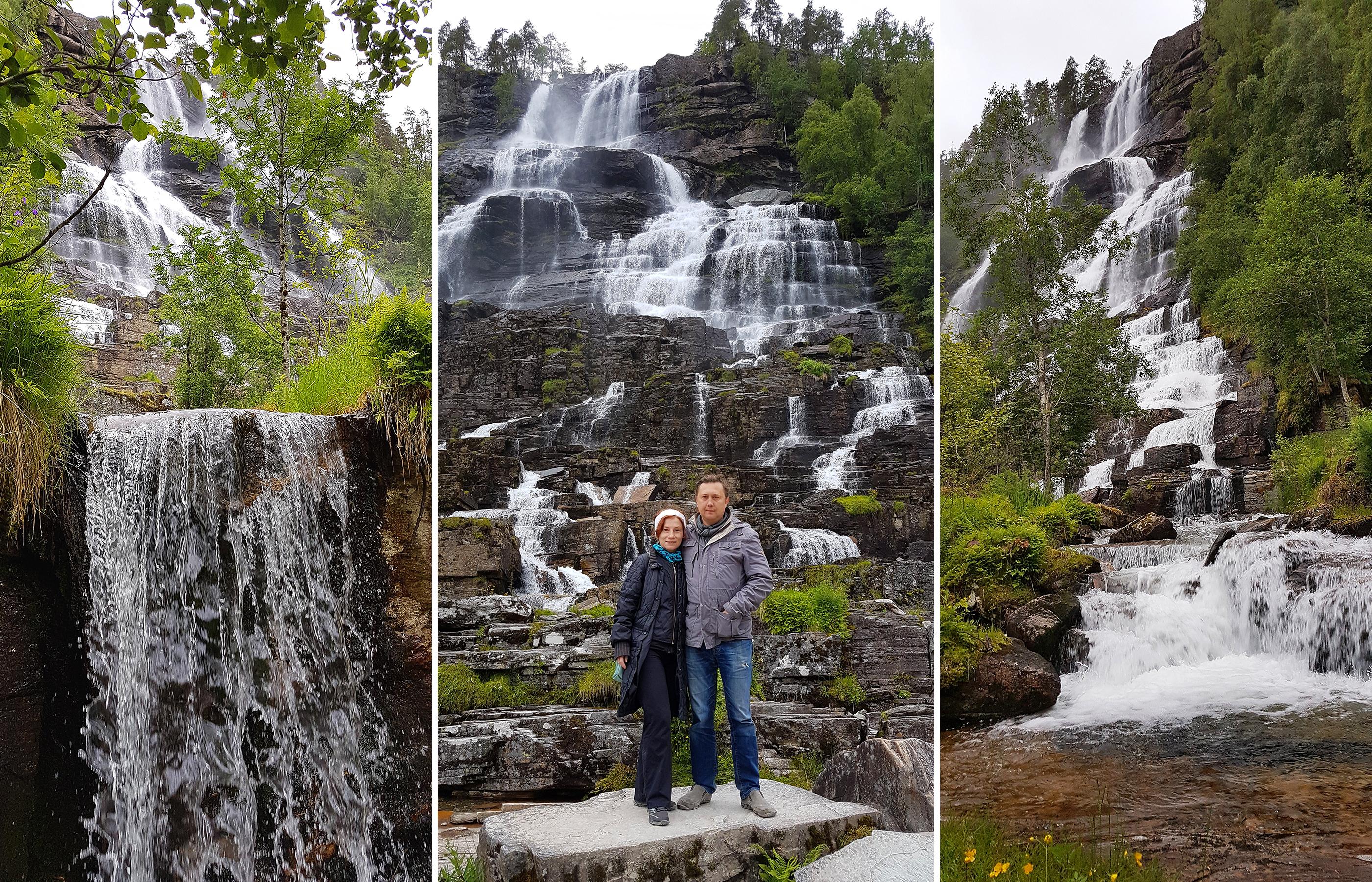 Ступени водопад Твиндефоссен образуют целые лестничные эстакады. Кажется, что так легко можно, по ним забраться на самый верх. Увы! Это очень обманчивое впечатление