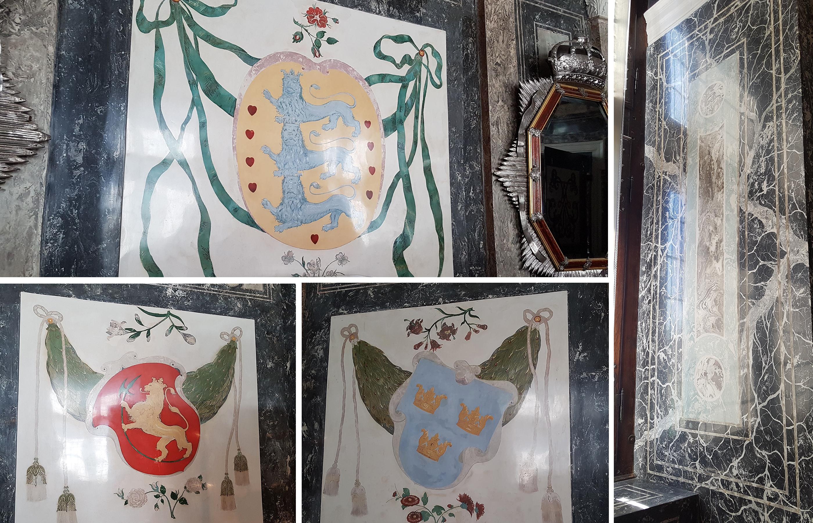 Гербы из Мраморного зала замка Розенборг