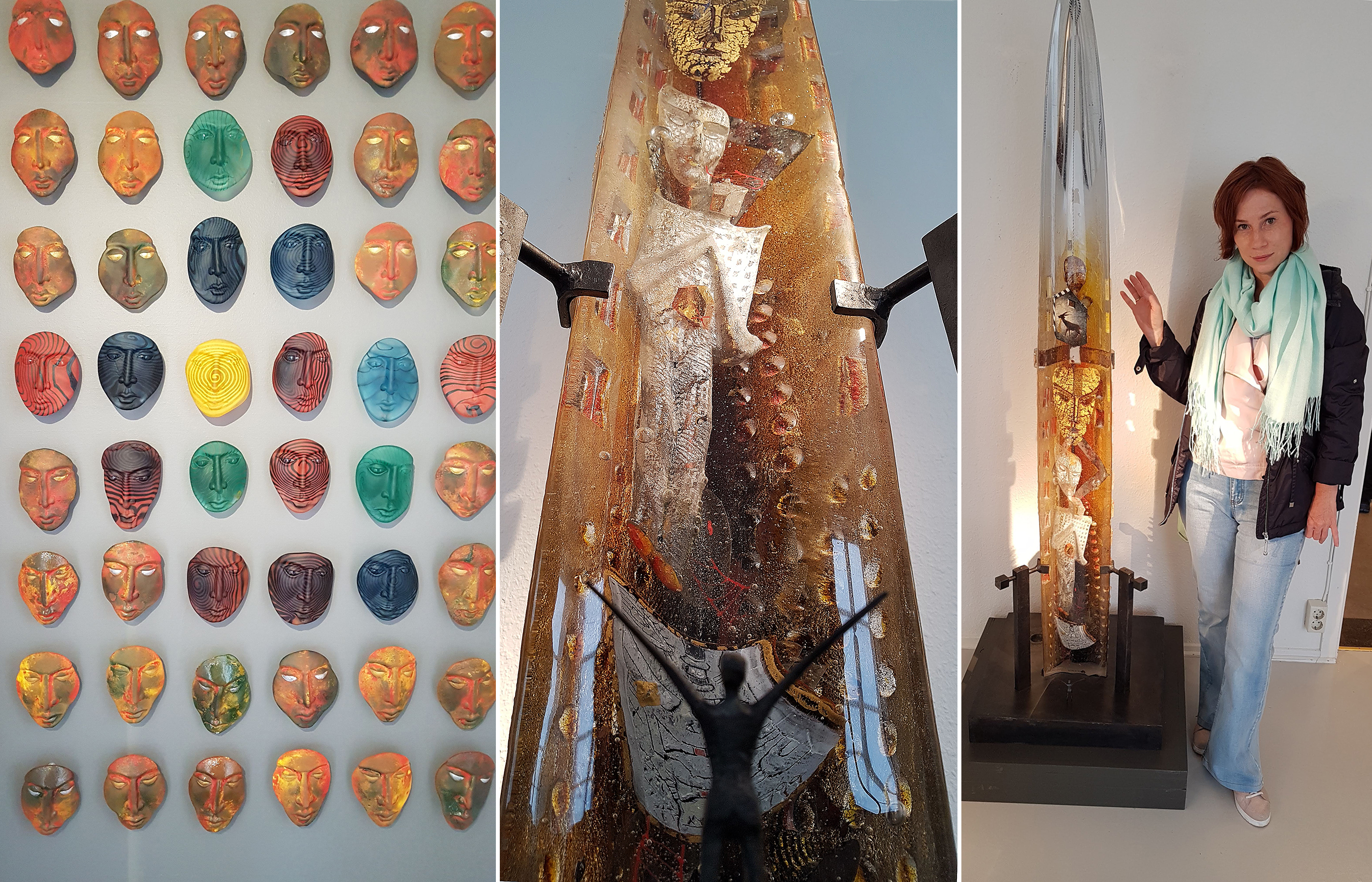 Авторские произведения из стекла в галерее Kosta Boda