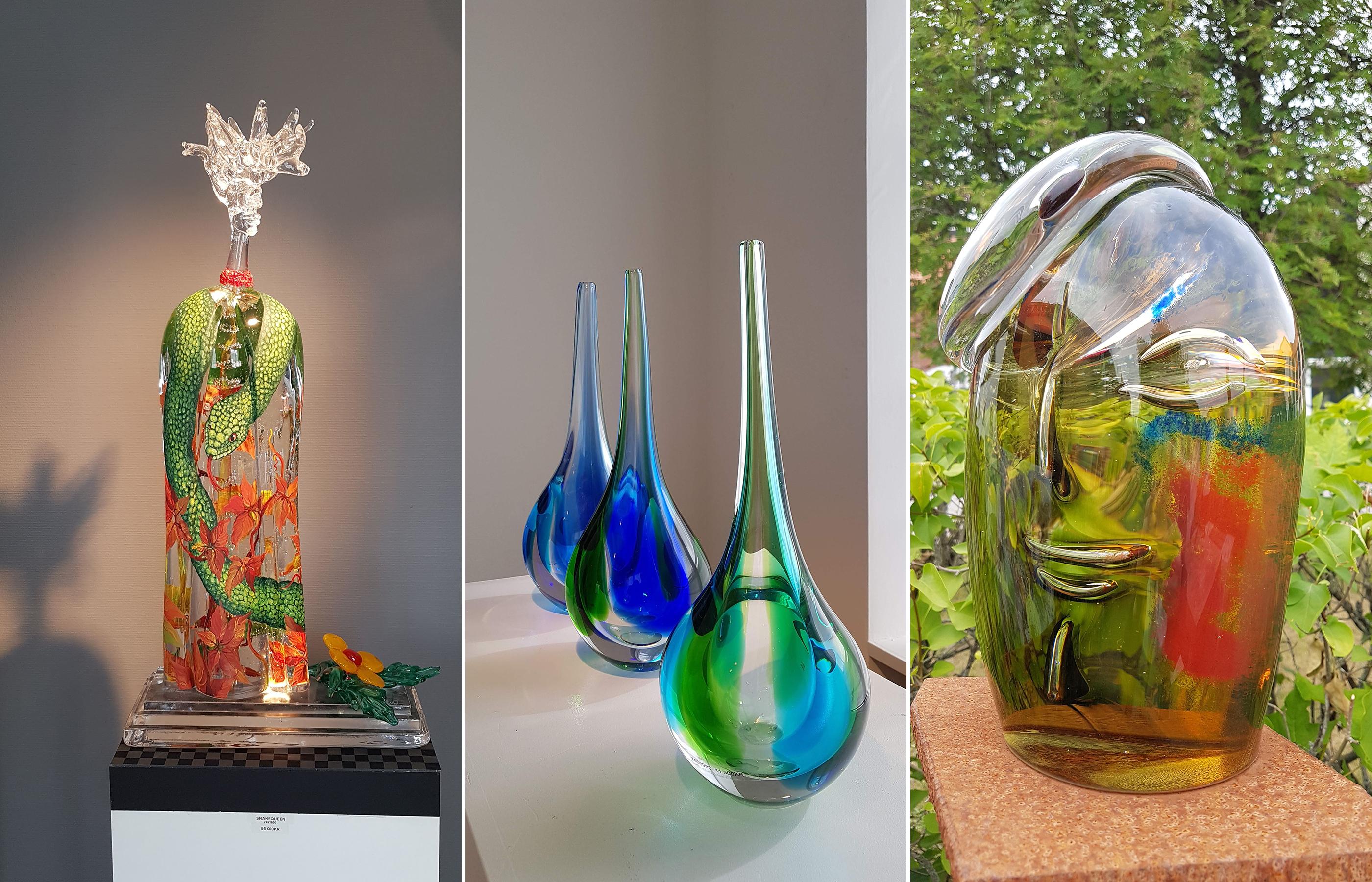 Эти хрупкие произведения из стекла своими радужными бликами преобразят самый скромный интерьер