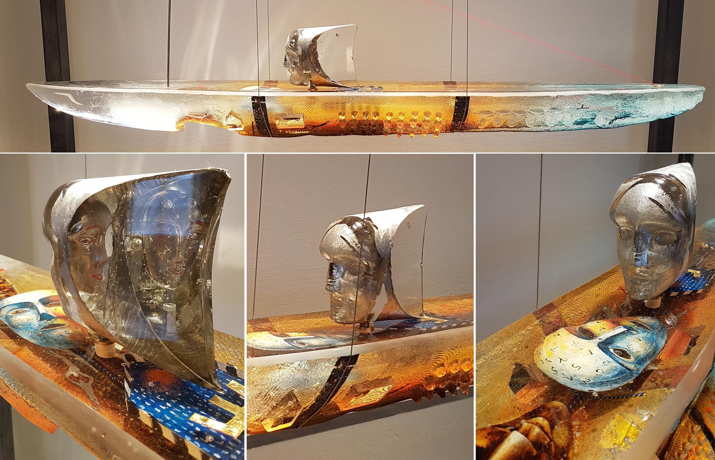 Корабль из стекла созданный королем Швеции Карлом XVI Густавом