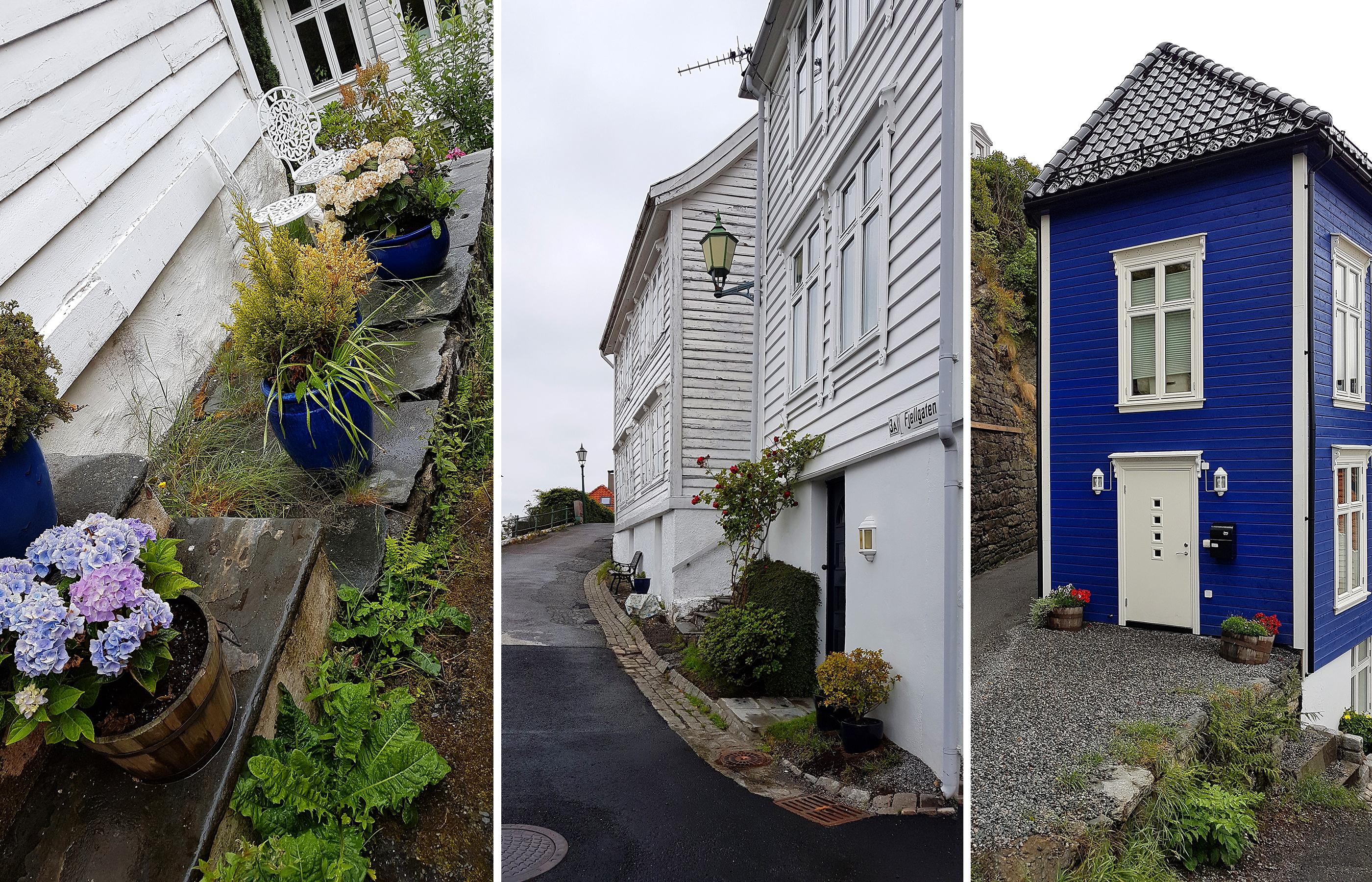 Узкие улочки Бергена. В каждом жителе живет дизайнер. Уж так тонко подобраны цвета фасадов домов и декора!