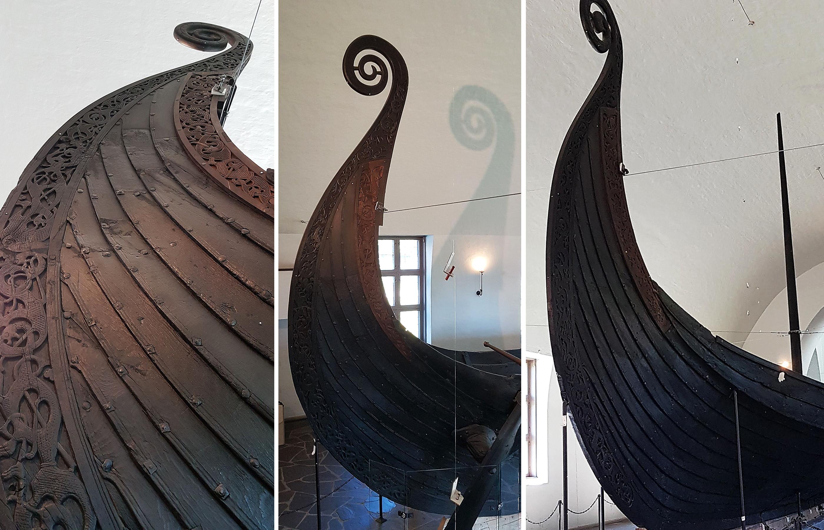 Драккар в Музее кораблей Викингов, г. Осло, Норвегия