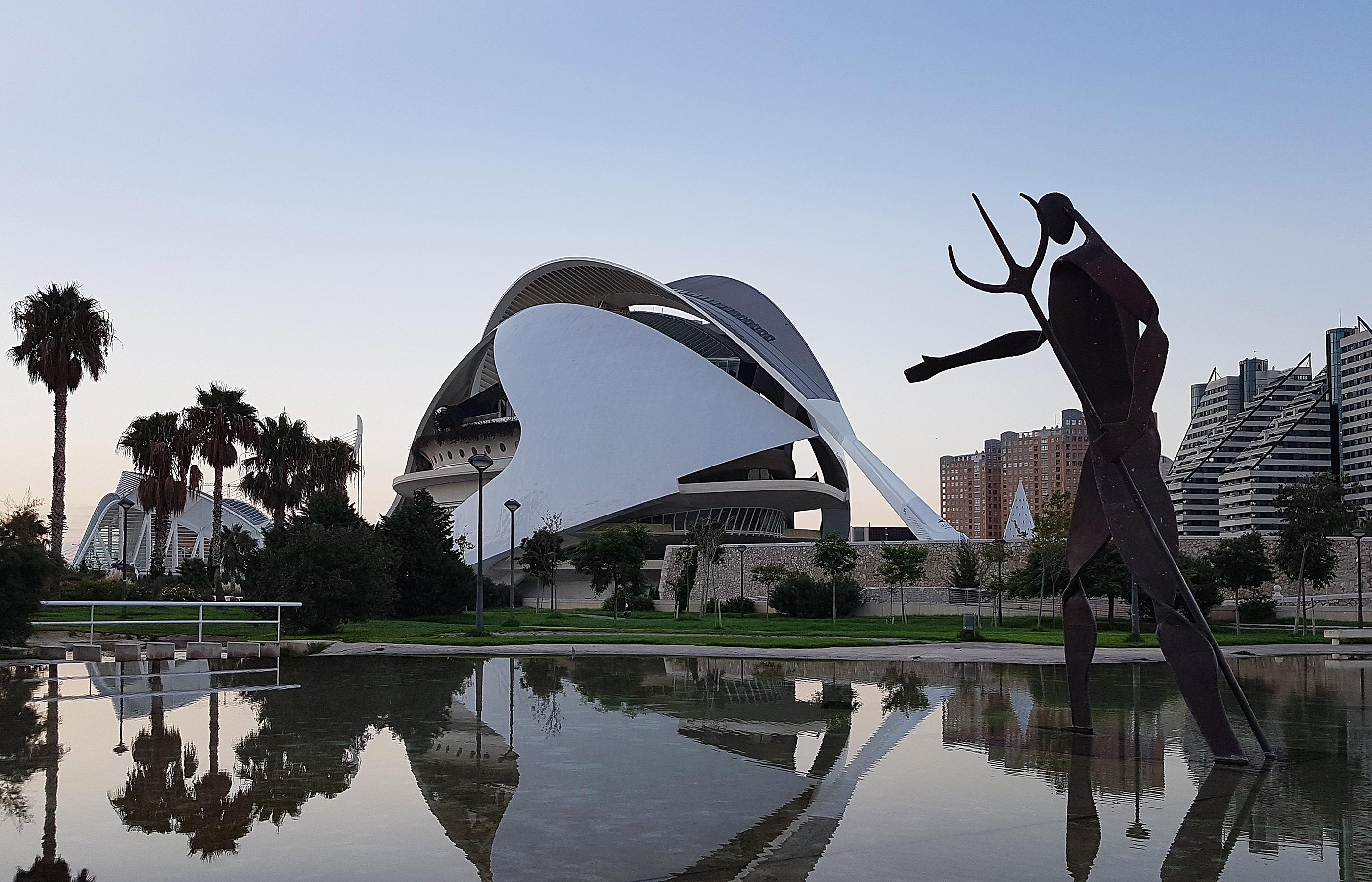 Оперный театр в Городе Науки и Искусства в Валенсии