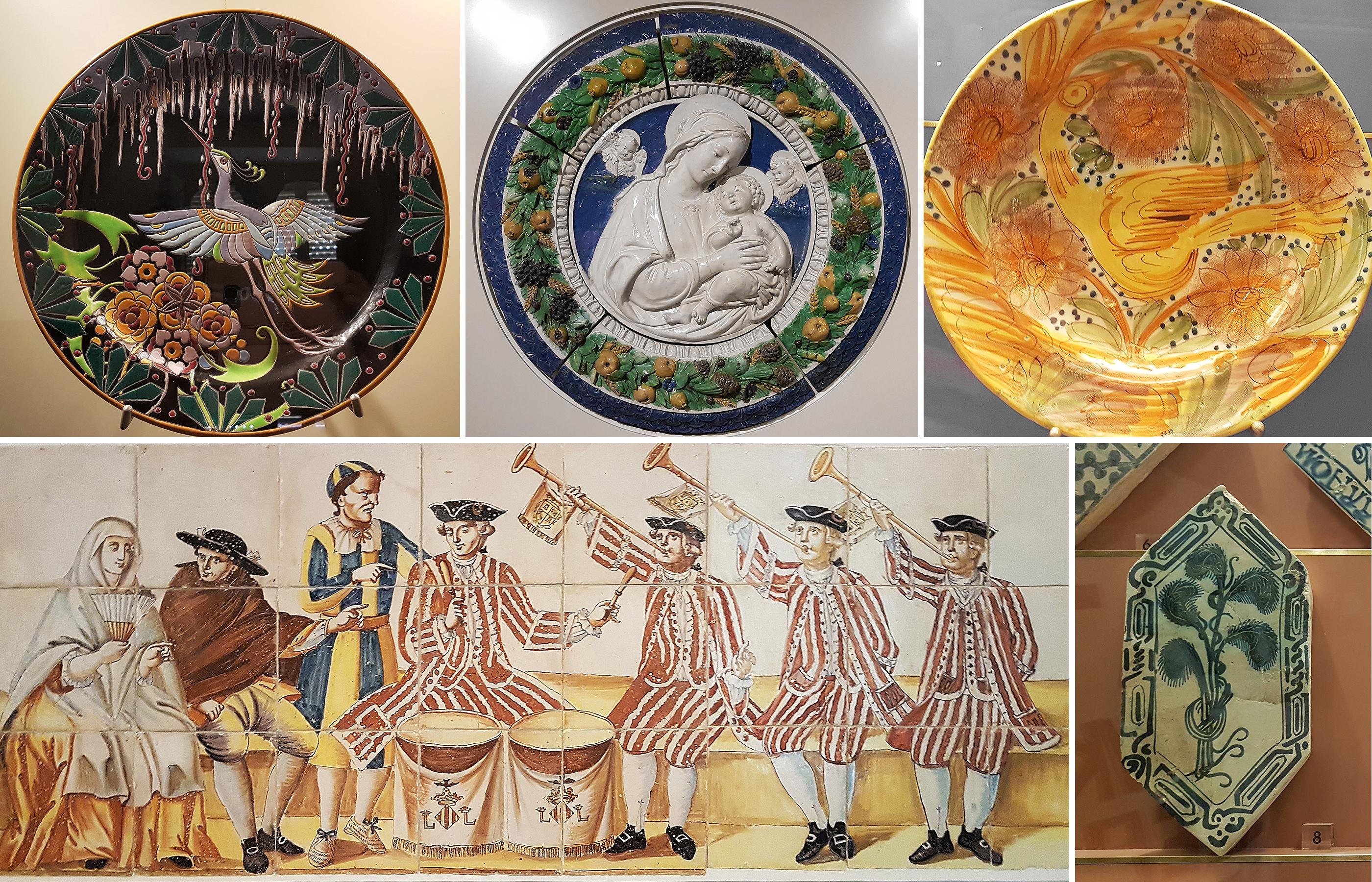 В залах музея представлены уникальные образцы испанской керамики