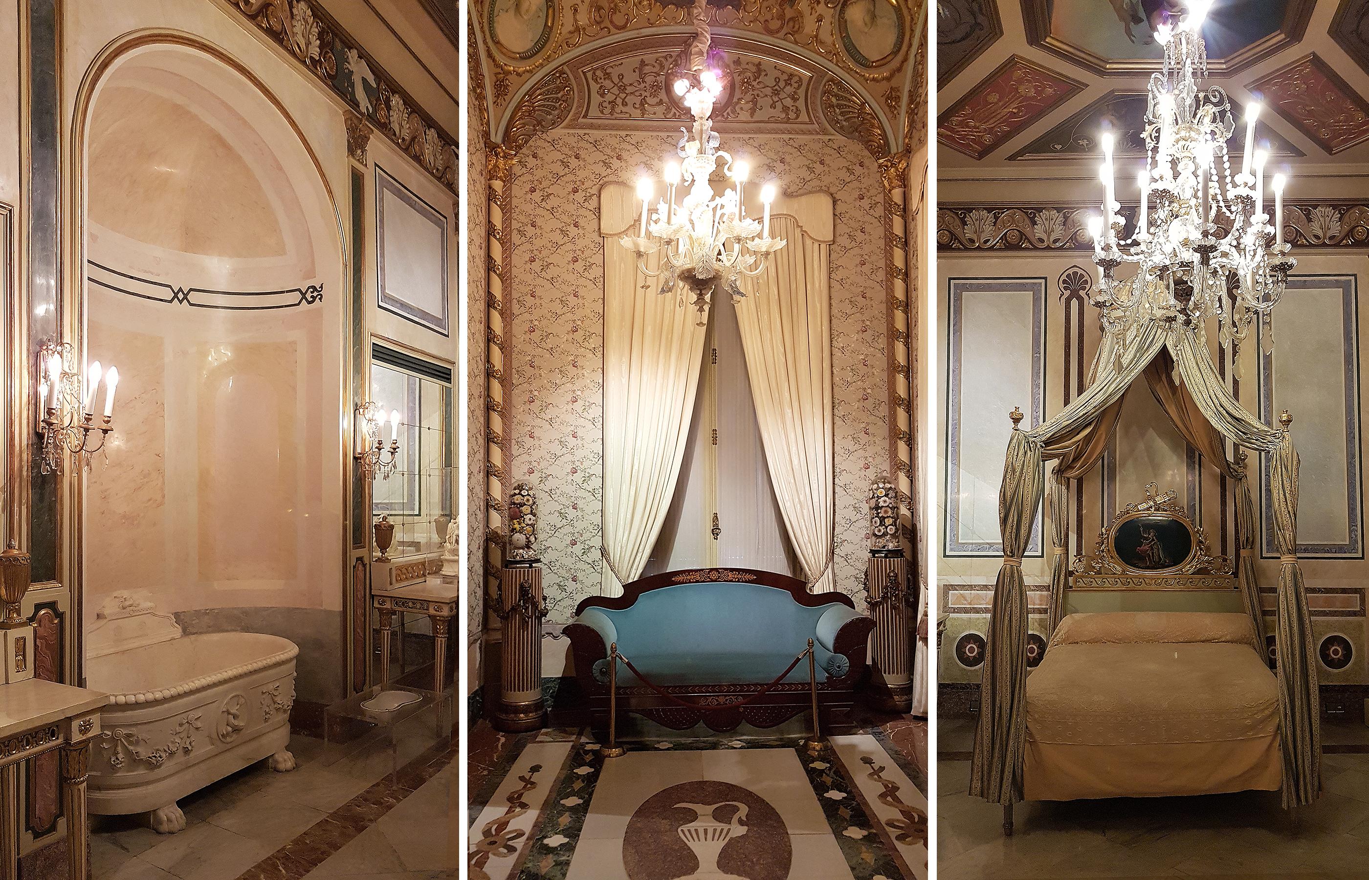 Сохранившиеся дворцовые интерьеры 19 века