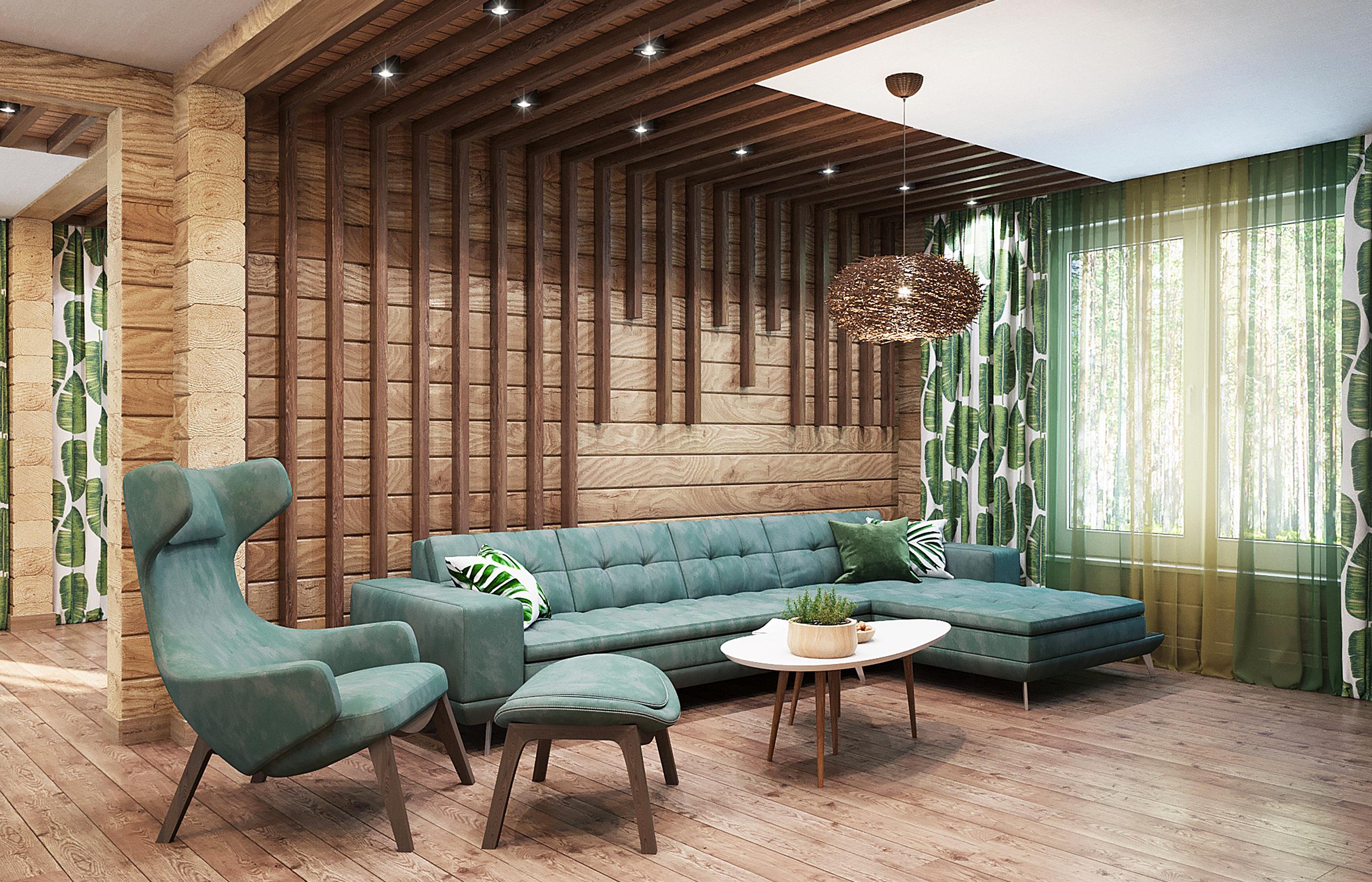 Экзотика к деревянном доме! Разве такое возможно?