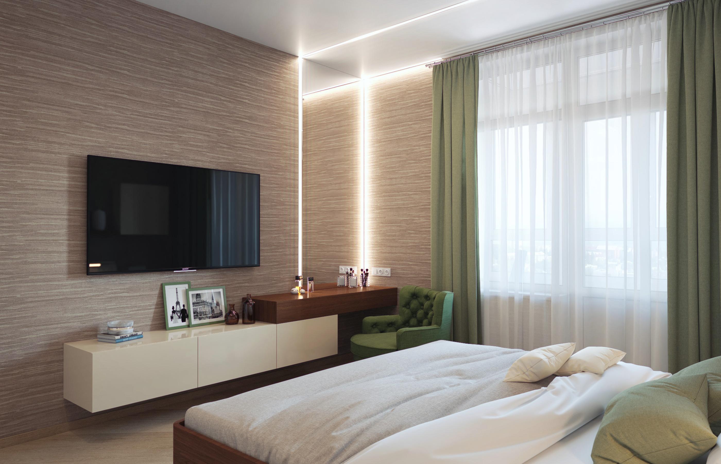 Линейные встроенные светильники подчеркивают лаконичную геометрию немецкой мебели Hulsta