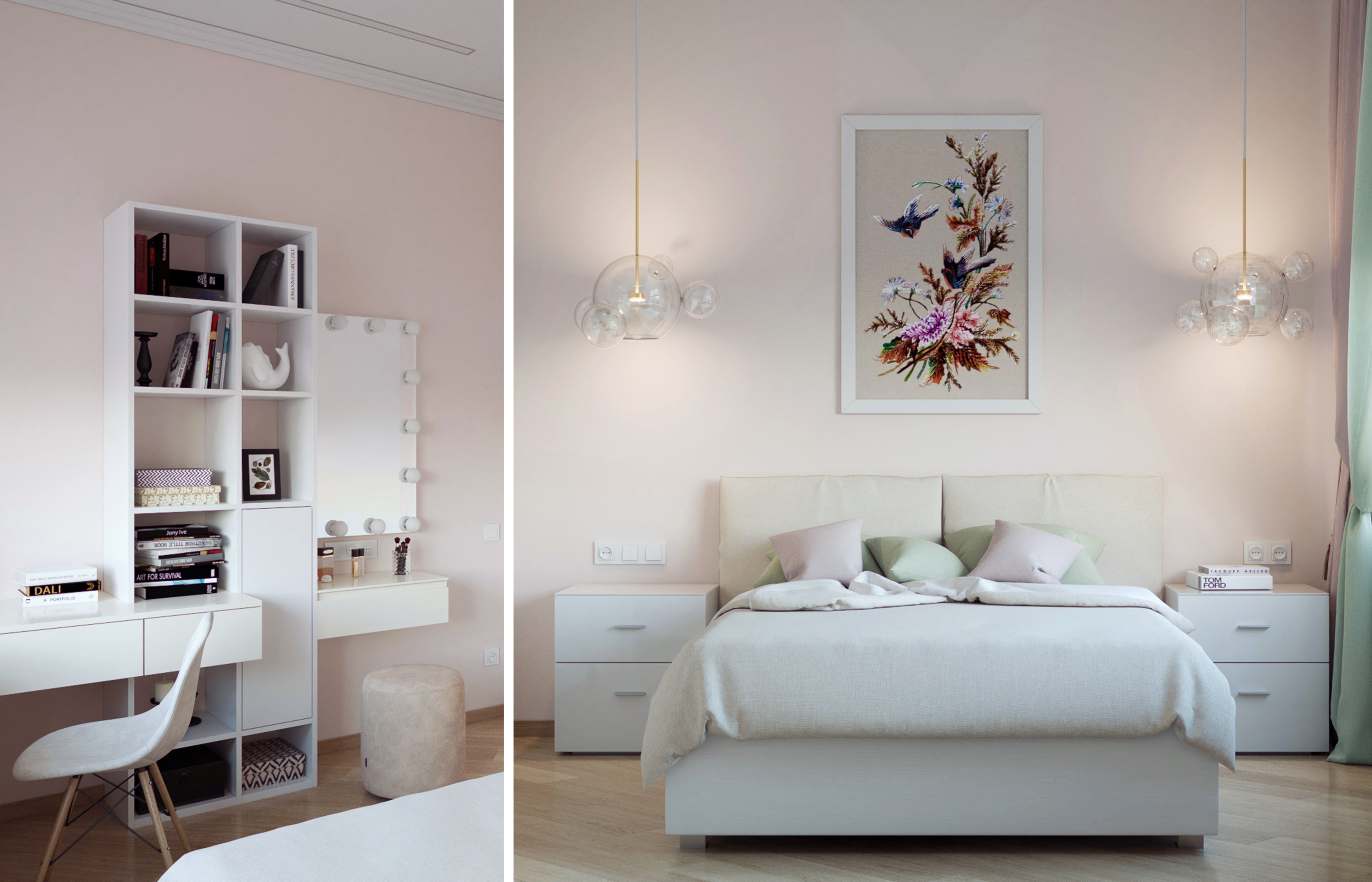 Интерьер комнаты девочки в стиле минимализм