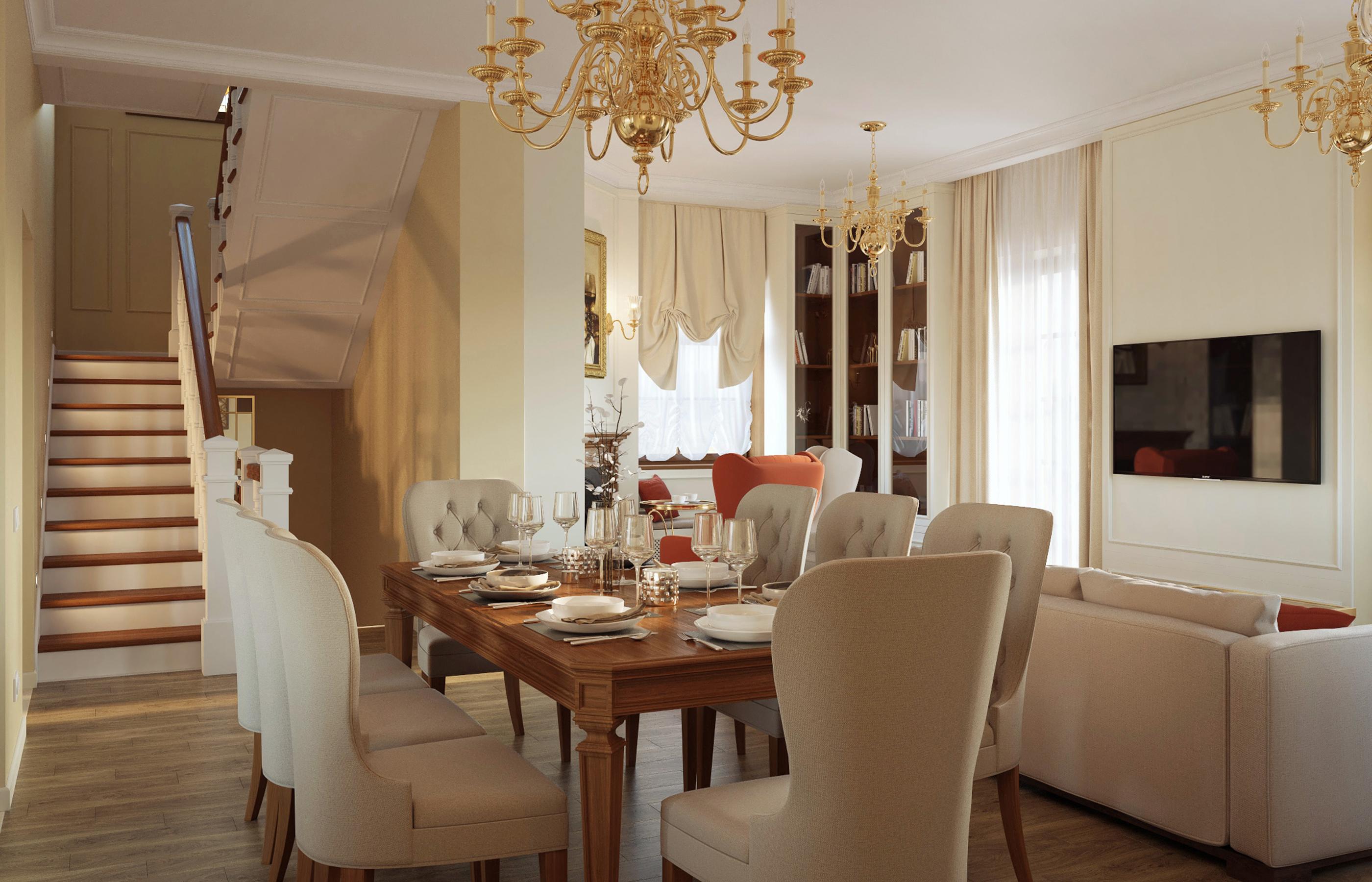 Гостиная - сердце дома, место где семья собирается за большим столом