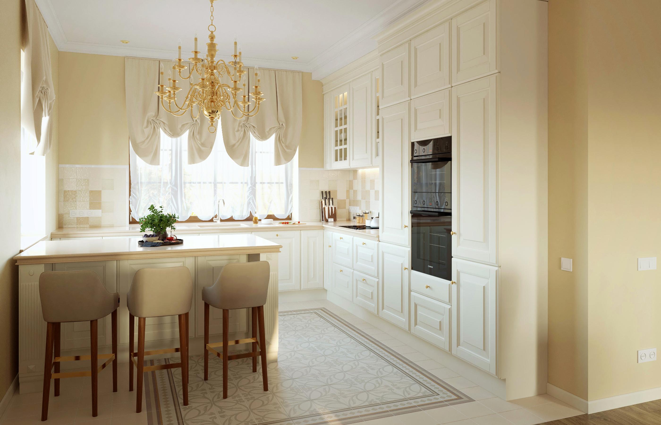 Интерьер кухни с мебелью от итальянской фабрики Scavolini