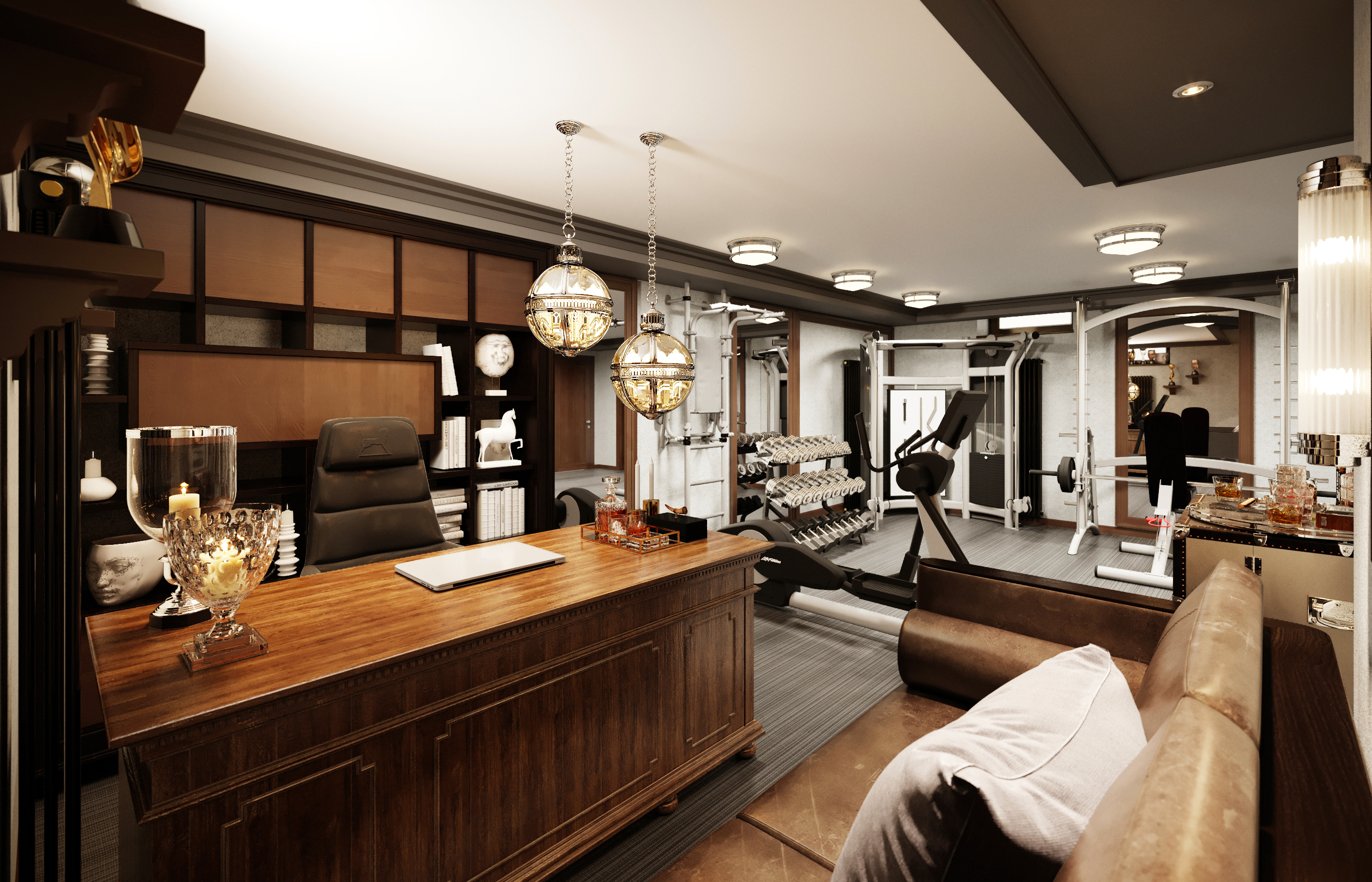Дизайн интерьера мужского кабинета