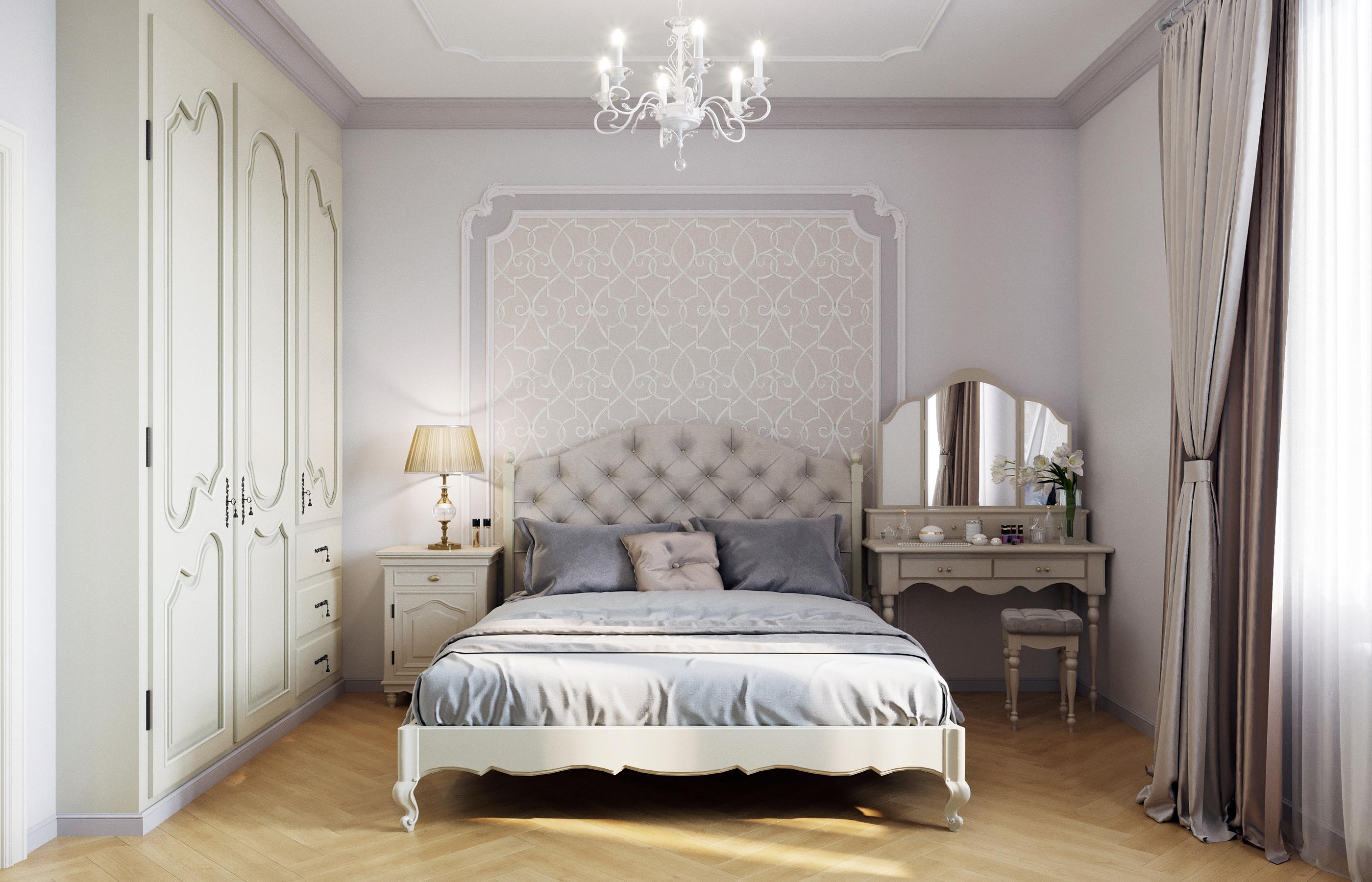 Дизайн интерьера гостевой спальни в стиле неоклассики