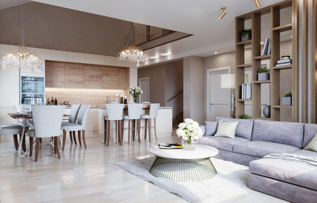 Дизайн интерьера гостиной в стиле хюгге