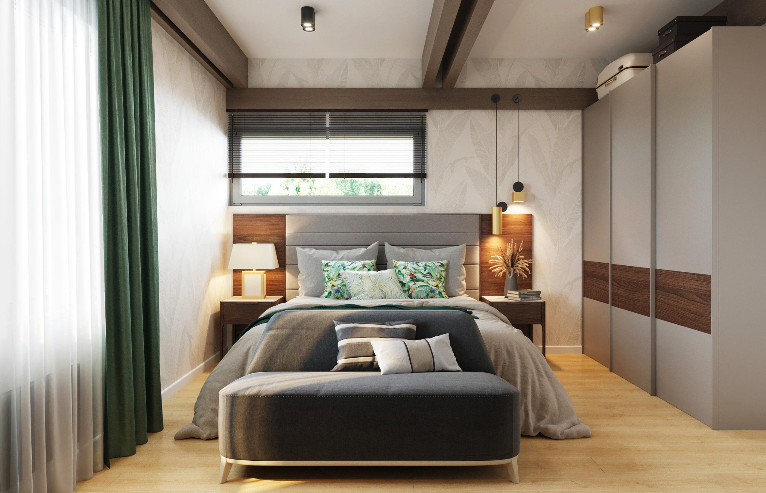 Интерьер гостевой спальни в фахверковом доме