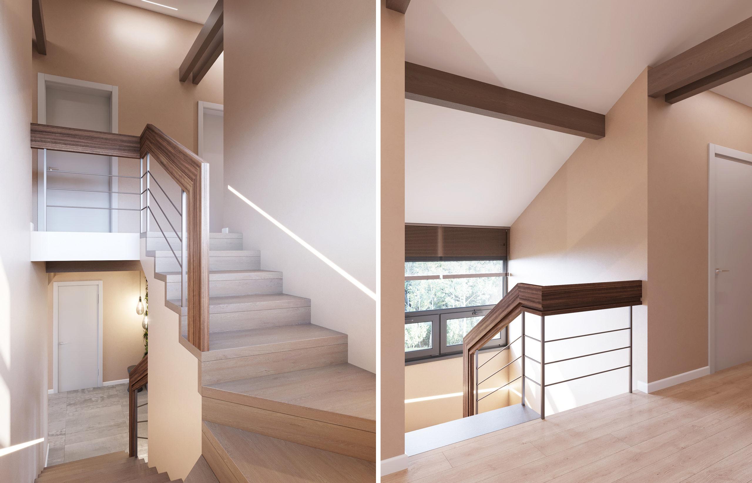 Лестница в минималистичном интерьере - минимум деталей, максимум функциональности