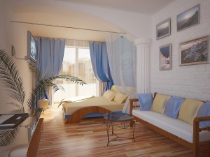 24 спальня морская